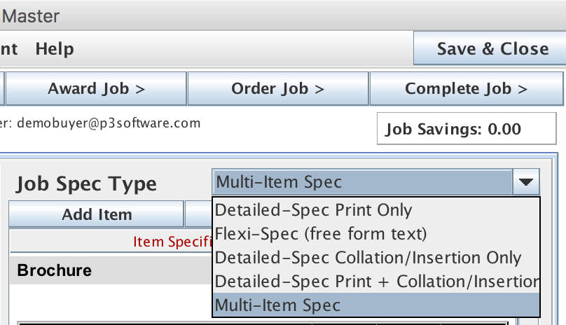 Advanced Pricing menu item from the Job Master screen on the Job List panel