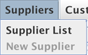 Suppliers dropdown menu