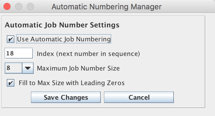 Automatic Number Manager