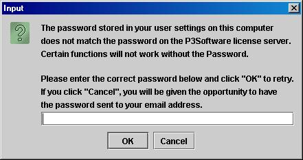 Incorrect Password Error Message